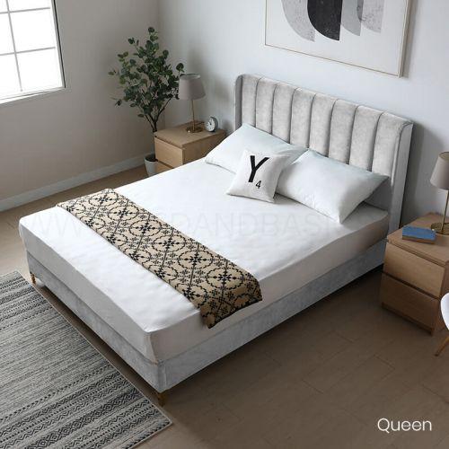 Adele Velvet Bed Frame Bedroom, Queen Velvet Bed Frame