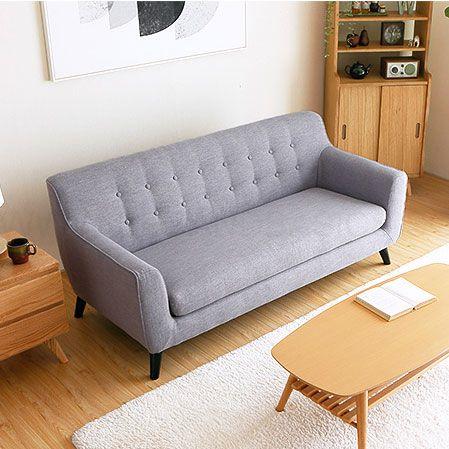 Alba 3 Seater Fabric Sofa