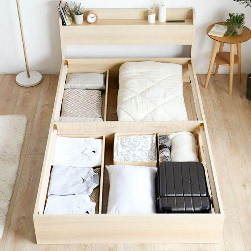 Aube Wooden Drawer Storage Bed Frame Japan Size Storage Bed Frame Online Furniture Singapore Bedandbasics