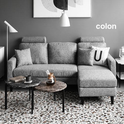 Colon L Shaped Fabric Sofa Living