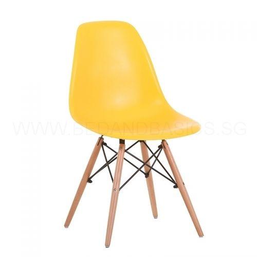 Eames Designer Chair Replica Yellow, Eames Side Chair Replica