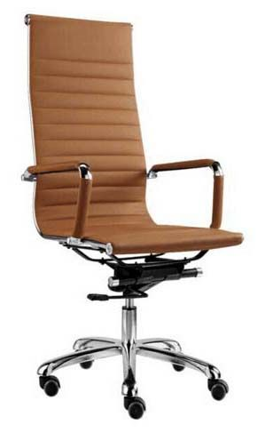 eames office chair leather high back replica brown bedandbasics sg