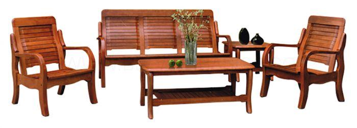 Denot Solid Wood Sofa Set