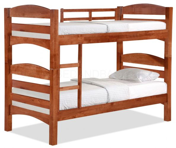 Woods Double Decker Wooden Bed Frame V | BedandBasics.sg