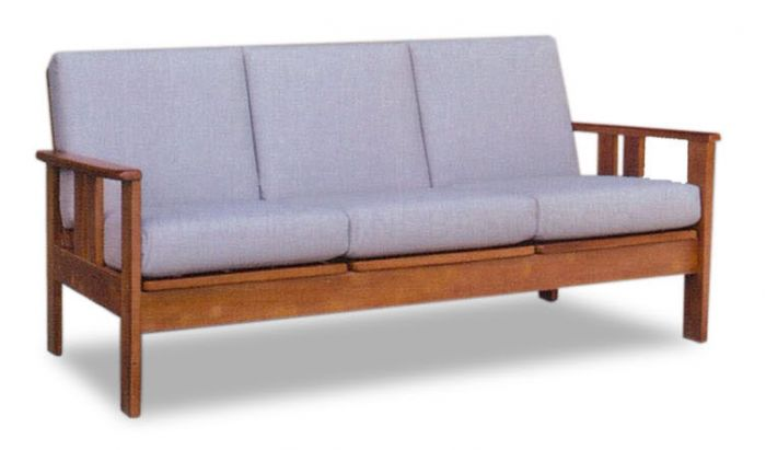 Mizuki Classic Solid Wood 3 Seater Sofa I