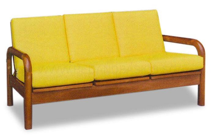 Mizuki Clic Solid Wood Sofa Set Ii