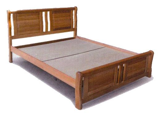 Hardy Solid Wood Bed Frame Queen Size Bedandbasics Singapore