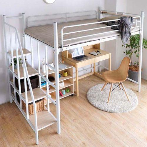 Linie Japanese Metal Loft Bed Bedandbasics