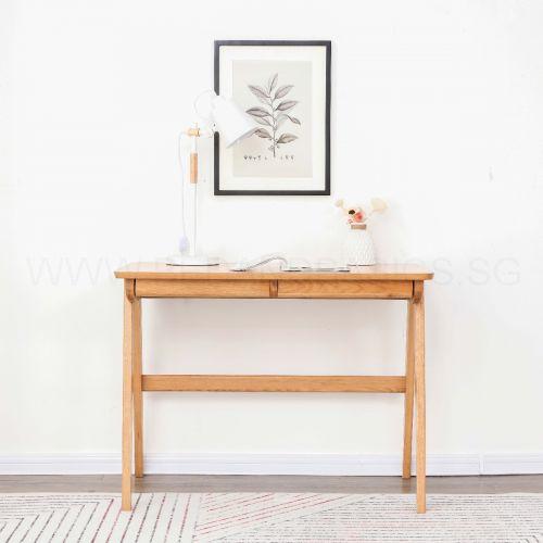 Nara American Oak Wood Study Table