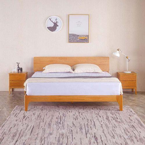 Nara American Oak Wood Bed Frame