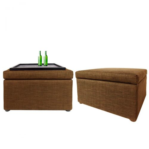 Ottoman Coffee Table Brown Ottoman Sofa Footrest Living