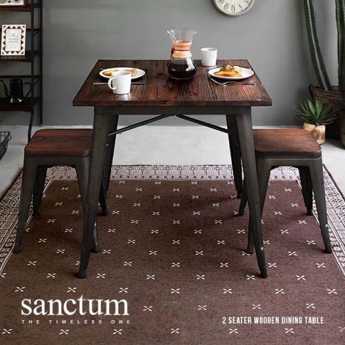 Sanctum Solid Wood Dining Table Only 2 Seater Bedandbasics Singapore