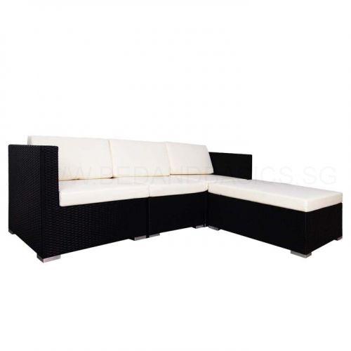 Summer Modular Sofa Set Ii White Cushions Bedandbasics