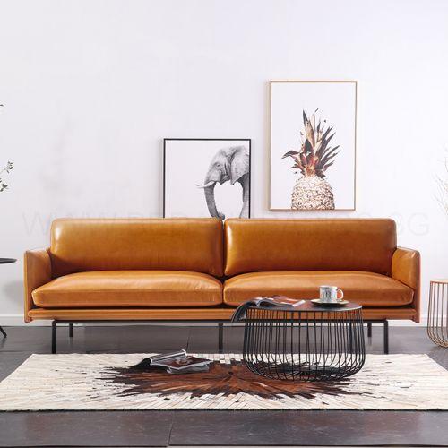 Theo Top Grain Leather Sofa | Furniture and Home Decor | Living Room Furniture | BedandBasics Singapore