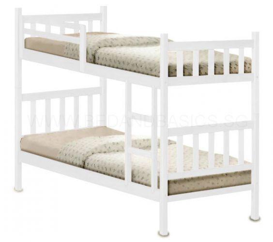 Woods Double Decker Wooden Bed Frame   BedandBasics.sg