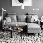 Colon L Shaped Fabric Sofa