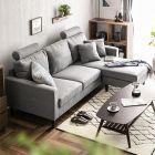 Colon L Shaped Fabric Sofa
