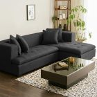 LODZ Fabric Corner Sofa