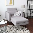 Luna Sofa - Armchair with optional Ottoman (Water Repellent Fabric)
