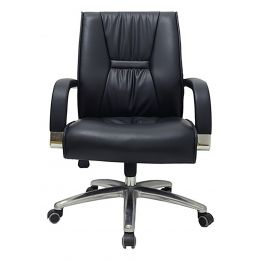 Solvor Mid Back Leather Office Chair