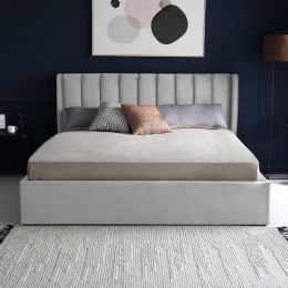 Adele Velvet Storage Bed Frame