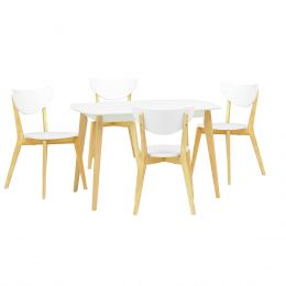 Arthur 1.2m Dining Table + 4 Dining Chair (1+4)