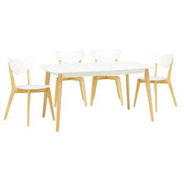 Arthur 1.5m Dining Table + 4 Dining Chair (1+4)