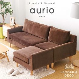 Aurio L Shaped Fabric Sofa