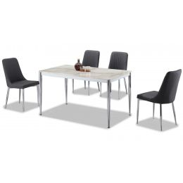 Azure Marble Top Dining Set (5 Piece)