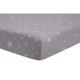 [Babyletto] Galaxy Galactic Grey Stars Fitted Crib Sheet