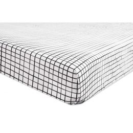 [Babyletto] Tuxedo Monochrome Grid Fitted Crib Sheet