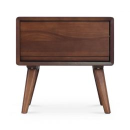 Burks Ash Wood Side Table