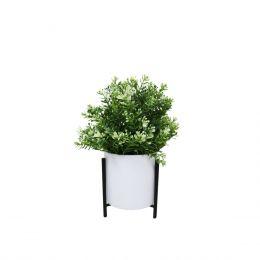 Cedar Flowerpot - White