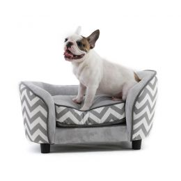 Chevron Pet Sofa Bed