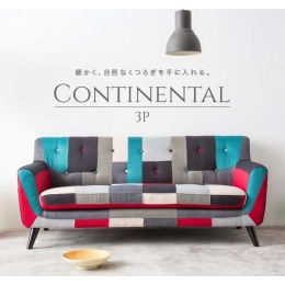 Continental 3 Seater Fabric Sofa