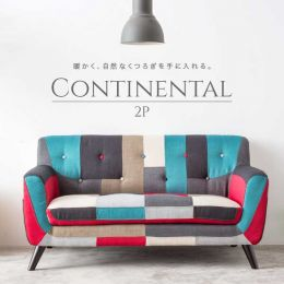 Continental 2 Seater Fabric Sofa