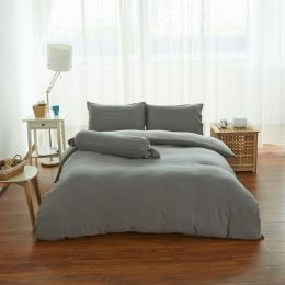 Cotton Pure Ash Grey Knitted Cotton Fitted Sheet