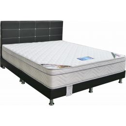 Sleepy Night Crestdale Comfort Pocketed Spring Mattress + BedFrame Bundle