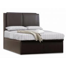 Deacon Faux Leather Storage Bed