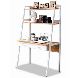 Dejen Study Table with Top Shelves