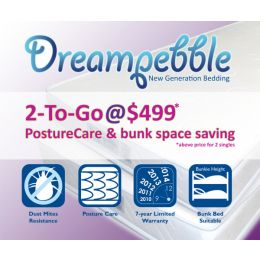 Dreampebble 2-To-Go PostureCare Mattress (Pair)