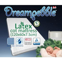 Dreampebble Natural Latex Baby Cot Mattress