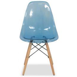Eames Clear Designer Chair Replica (Blue)