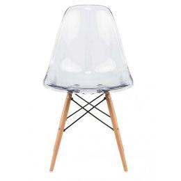 Eames Clear Designer Chair Replica (White)