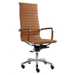 Eames Office Chair Leather High Back Replica (Brown)