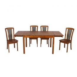 Elmways Solid Wood Extendable Table Dining Set