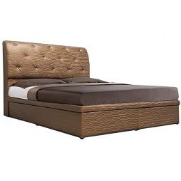 Elvira Faux Leather Storage Bed Frame