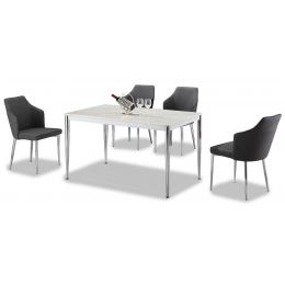 Endre Marble Top Dining Set (5 Piece)
