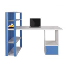 Even Desk with Shelf