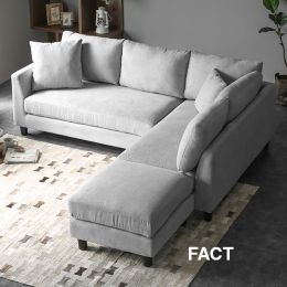Fact Velvet L Shaped Sofa